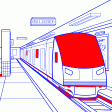 train station clipart drawing pencil and in color train station