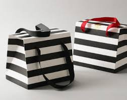 black and white striped gift bags kate spade favor etsy