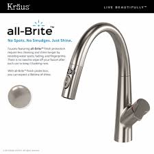 Stainless Kitchen Faucet by Kraus Arqo Dual Function Pull Down Kitchen Faucet In Stainless