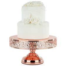 gold cake stands 12 gold plated metallic wedding cake stand amalfi decor