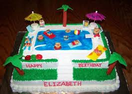 party cake pool party cake cakecentral