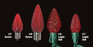 what is the difference between c7 and c9 lights christmas usa commercial led holiday lighting for the professional