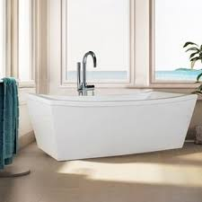 Lucite Bathtub Signature White Acrylic Freestanding Bath Tub Free Shipping