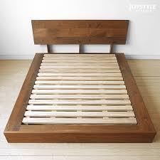 Wooden Bed Frame Double by Bedroom Awesome Classic Rubber Wood Double Bed Frame Wooden Pine