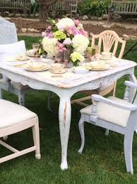 party tables and chairs shabby chic tea party vintage party rentals tables and chairs
