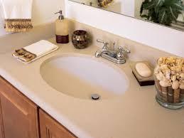 attractive solid surface countertops hgtv in bathroom home