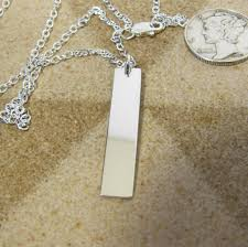 personalized necklaces for women silver bar necklace minimalist necklace silver