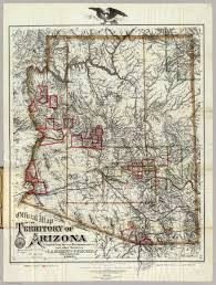 Arizona Maps by Map Of The Territory Of Arizona Eckhoff E A Riecker P 1880