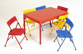 Kids Wood Table And Chair Set Cosco Products Cosco Kid U0027s 7 Piece Folding Chair And Table Set