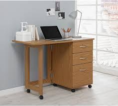 Space Saving Office Desk Buy Home Dino 2 Drawer Space Saving Office Desk Oak Effect At