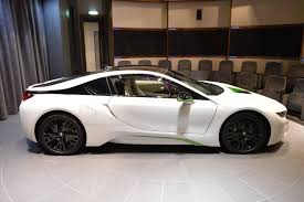 bmw white car fabulous white bmw i8 with java green accents gtspirit