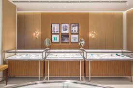 Jewelry Shop Decoration Tiffany Jewelry Station Counters Produce High End Luxury Shop