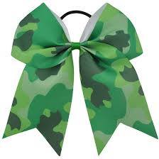 camouflage ribbon 6pcs 7inch large camouflage printed cheer bow grosgrain ribbon