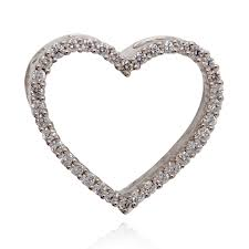 diamond studded try it online diamond studded heart pendant grt jewellers