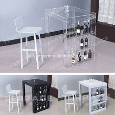 Acrylic Bar Table Lucite Mini Bar Table With Wine Rack Modern Acrylic Pub Tables