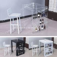 Mini Bar Table Lucite Mini Bar Table With Wine Rack Modern Acrylic Pub Tables