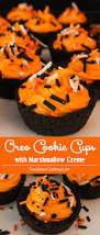oreo cookie cups with marshmallow cream two sisters crafting