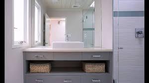 waschbecken untertisch grau waschtisch im bad mit viel stauraum youtube