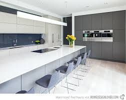 grey and white modern kitchen designs backsplash tile kitchens