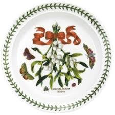 discontinued portmeirion botanic garden mistletoe dinnerware