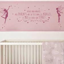 sticker mural chambre fille stickers fée depuis mon arrivée