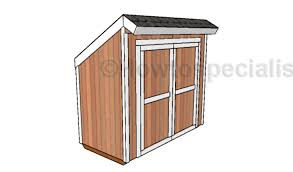 Diy Lean To Storage Shed Plans by 4x8 Lean To Shed Plans Howtospecialist How To Build Step By