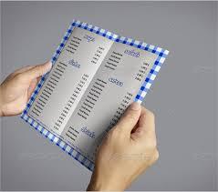 sample menu 10 documents in pdf psd
