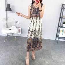 fashion women bohemian dress plus size holiday wear casual