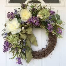 spring wreath hydrangea wreath spring door wreath wedding wreath