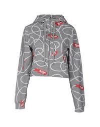 moschino underwear sweatshirt grey cotton elastane women jumpers
