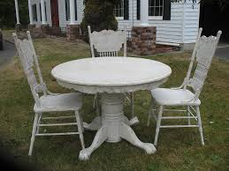 White Chairs For Sale Design Ideas Unique Distressed Round Dining Table In Elegant Look