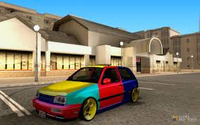 volkswagen harlequin interior golf mk3 harlequin edition for gta san andreas