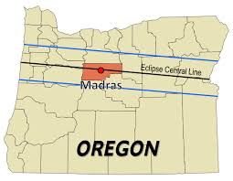 map of oregon showing madras 2017 total solar eclipse madras oregon eclipse path