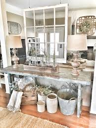 Rustic Room Divider Farmhouse Entryway Table With Hanging Window For A Room Divider