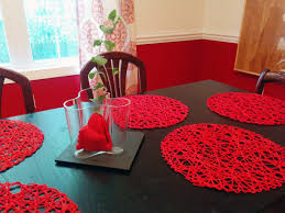 beautiful dining room with red touch color accents orchidlagoon com
