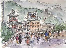 seoul urban sketchers travel sketches of beijing 북경 china