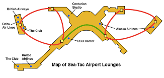 seattle airport terminal map seattle airport lounges the guide loungebuddy