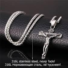 gold jesus pendant necklace images Cross jesus pendant necklace safe and shine jpg