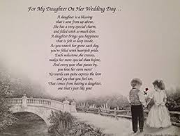 Wedding Blessing Words Amazon Com Gift For My Daughter On Her Wedding Day Sentimental