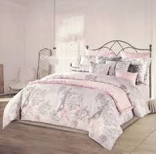 Twin Xl Quilts Coverlets 5 Pc I Love Paris Twin Xl Comforter Pink Coverlet Set Kensie