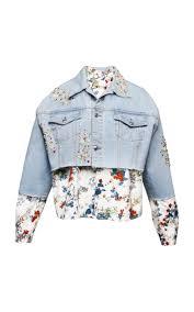light blue cropped jean jacket light blue cropped denim jacket by anouki moda operandi