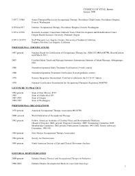 Physical Therapy Sample Resume by Complete Curriculum Vitae