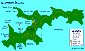 map of the bvi map of norman island in the bvi