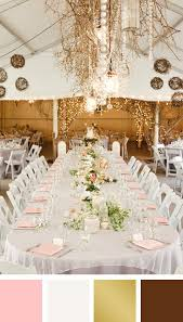 pink white gold wedding light pink white gold and brown color palette