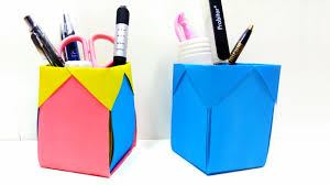 how to make pen stand back to diy paper desk organiser