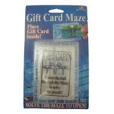 gift card maze 6 pack gift card maze puzzle money challenge christmas