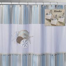 coffee tables seashell shower curtain bathroom set beach themed