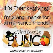 giving thanks bunco bunco printables