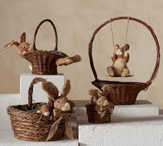 wicker easter baskets bunny rimmed easter baskets pottery barn