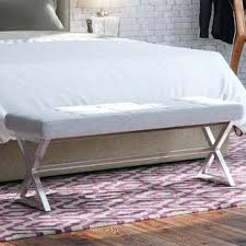 end of bed bench king size wayfair